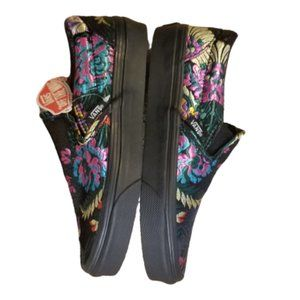 Vans Satin Floral Embroidered Sneakers | Black